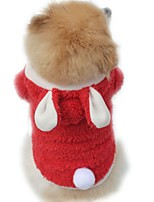cheap -Dog Jumpsuit Rabbit Winter Dog Clothes Purple Red Pink Costume Cotton Animal Cosplay XS S M L