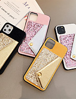 cheap -Case For Apple iPhone 11 / iPhone 11 Pro / iPhone 11 Pro Max Wallet / Glitter Shine Back Cover Glitter Shine Textile for iPhone 6  6 Plus  6s 6s plus 7 8 7 plus 8 plus X XS XR XS MAX