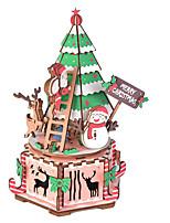 abordables -Puzzles 3D Puzzles en bois Noël Simulation Fait à la main En bois 214 pcs Enfant Adulte Tous Jouet Cadeau