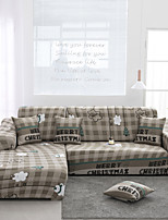cheap -White Cloud Print Dustproof All-powerful Slipcovers Stretch Sofa Cover Super Soft Fabric Couch Cover with One Free Pillow Case