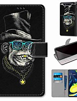 cheap -Case For Samsung Galaxy S10 / S10 Plus / S10 E Wallet / Card Holder / with Stand Captain Golden Tooth Monkey PU Leather / TPU for A10s / A20s / A50(2019) / A70(2019) / A90(2019) / Note 10 Plus