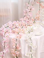 cheap -Artificial flower cherry blossom rattan wedding cherry blossom string decoration hanging decorative flower