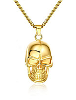 cheap -Men's Pendant Necklace Geometrical Skull Fashion Titanium Steel Gold 50 cm Necklace Jewelry 1pc For Gift Daily