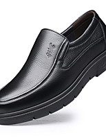 cheap -Men's Comfort Shoes PU Fall & Winter Loafers & Slip-Ons Black / Brown