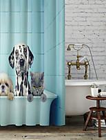 cheap -Cartoon Cute Dog Shower Curtains & Hooks Classic Polyester Braided Waterproof