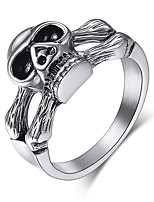 cheap -Couple's Band Ring 1pc Silver Alloy Geometric Punk Trendy Daily Jewelry Geometrical Hope Cool
