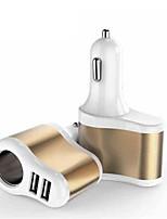 abordables -allume-cigare voiture un à deux chargeur allume-cigare usb chargeur de téléphone intelligent