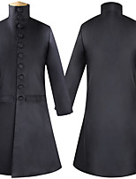 cheap -Plague Doctor Victorian Steampunk Winter Suits & Blazers Men's Sequin Costume Black Vintage Cosplay Party Halloween Long Sleeve / Coat