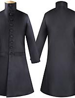 abordables -Docteur de la peste Victoriens Steampunk Hiver Tailleurs et Vestons Homme Paillette Costume Noir Vintage Cosplay Soirée Halloween Manches Longues / Manteau