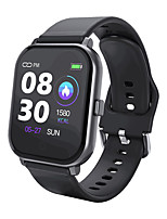 cheap -Smartwatch Digital Modern Style Sporty Silicone 30 m Water Resistant / Waterproof Heart Rate Monitor Bluetooth Digital Casual Outdoor - Black black / gold Red