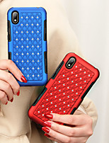 cheap -Case For Huawei Huawei Y6 (2019) / Huawei Y5 2019 Shockproof / Rhinestone Back Cover Solid Colored TPU / PC