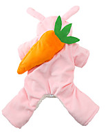 cheap -Dog Jumpsuit Rabbit Winter Dog Clothes Yellow Pink Costume Acrylic Fibers Animal Cosplay XS S M L XL