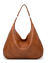 cheap -Women's Polyester / PU Top Handle Bag Solid Color Black / Brown / Dark Green