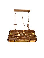 cheap -QIHengZhaoMing 3-Light Chandelier Wood / Bamboo Wood / Bamboo 110-120V / 220-240V