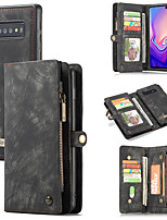 cheap -Leather wallet mobile phone case for Samsung Note8 / 9/10 Plus magnetic adsorption TPU anti-fall SamsungS8 / S9 S10 Plus Lite 5G multi card slot mobile phone case