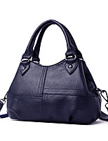 cheap -Women's Rivet PU Top Handle Bag Solid Color Black / Brown / Wine