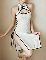 cheap -Women's Split Sexy Uniforms & Cheongsams Nightwear Solid Colored White One-Size / Turtleneck