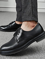 cheap -Men's Formal Shoes PU Spring & Summer / Fall & Winter Casual / British Oxfords Black