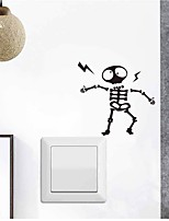 cheap -Cartoon Eectrocuted Alien Light Switch Stickers - Plane Wall Stickers / Animal Wall Stickers Landscape / Animals Study Room / Office / Indoor