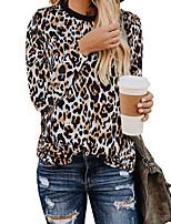 cheap -Women's Daily T-shirt - Leopard White