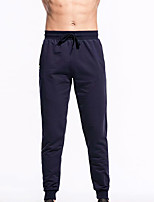 cheap -Men's Running Pants Track Pants Sports Pants Drawstring Sports Pants / Trousers Running Fitness Jogging Thermal / Warm Breathable Quick Dry Solid Color Black Navy Blue Gray / Micro-elastic