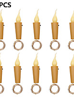 cheap -10pcs 2m 20 LED Candle String Light Wine Bottle Mini Flame Cork Lamp Holiday Decoration Light for Home Bar Valentine's Day