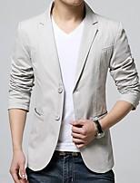 abordables -Noir / Ivoire / Kaki Couleur Pleine Coupe Sur-Mesure Polyester Costume - Cranté Croisé 2 boutons / costumes