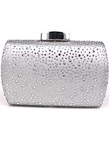 cheap -Women's Chain Alloy Evening Bag Solid Color Black / Champagne / Silver