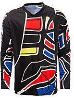 cheap -21Grams Men's Long Sleeve Cycling Jersey Downhill Jersey Dirt Bike Jersey Winter 100% Polyester Black / Red Bike Jersey Top Mountain Bike MTB Road Bike Cycling Thermal / Warm UV Resistant Breathable