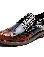 cheap -Men's Printed Oxfords Synthetics Spring / Fall Casual / British Oxfords Non-slipping Brown / Green / Blue / Party & Evening