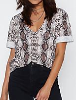 cheap -Women's Daily T-shirt - Geometric White