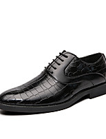 cheap -Men's Summer / Fall Business / Classic Party & Evening Office & Career Oxfords Faux Leather Non-slipping Wear Proof Black / Yellow / Red