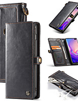 cheap -Detachable wallet holster Samsung Note8 / 9/10 Plus magnetic adsorption SamsungS8 / S9 / S10 Plus S10e anti-fall mobile phone holster for car bracket