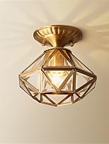 cheap -Flush Mount Lights Brass Metal Glass Adorable 110-120V / 220-240V