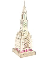 cheap -3D Puzzle Wooden Puzzle Famous buildings Simulation Hand-made Wooden 81 pcs Kid's Adults' All Toy Gift