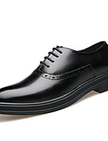 cheap -Men's Leather Shoes Leather / Cowhide Spring & Summer / Fall & Winter Business / Casual Oxfords Breathable Black / Yellow