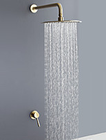 cheap -Shower Faucet - Contemporary Brushed Gold Wall Mounted Ceramic Valve Bath Shower Mixer Taps