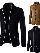 cheap -Plague Doctor Victorian Steampunk Winter Coat Men's Costume Black / Apricot Vintage Cosplay Party Halloween Long Sleeve