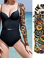 abordables -1 pcs Tatouages temporaires Etanche / Sécurité / Créatif Visage / Caisse / mains Autocollant de transfert d'eau Body Painting Colors
