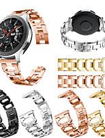 abordables -Bracelet de Montre  pour Gear S3 Frontier / Gear S3 Classic / Gear S3 Classic LTE Samsung / Samsung Galaxy Design de bijoux Acier Inoxydable Sangle de Poignet