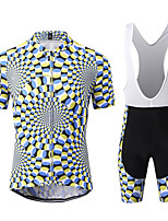 cheap -WECYCLE Men's Short Sleeve Cycling Jersey with Bib Shorts Winter Black / White Bike Clothing Suit 3D Pad Warm Quick Dry Sports Solid Color Mountain Bike MTB Road Bike Cycling Clothing Apparel