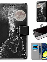cheap -Case For Samsung Galaxy S10 / S10 Plus / S10 E Wallet / Card Holder / with Stand Howling PU Leather / TPU for A10s / A20s / A50(2019) / A70(2019) / A90(2019) / Note 10 Plus / J6 Plus(2018)