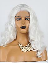abordables -Perruque Lace Front Synthétique Ondulé Partie latérale Lace Frontale Perruque Court Blanche Cheveux Synthétiques 10-16 pouce Femme Cosplay Doux Ajustable Blanc / Résistant à la chaleur