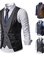cheap -James Bond Gentleman Vintage Double Breasted Waistcoat Men's Slim Fit Costume Black / Navy Blue / Gray Vintage Cosplay Party Halloween / Vest