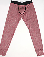 cheap -Men's Normal Cotton Gender Neutral Long Johns Solid Colored Mid Waist