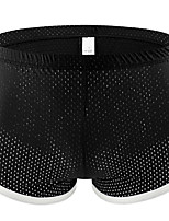 cheap -Men's Mesh Boxers Underwear - Normal Mid Waist Black White Royal Blue M L XL
