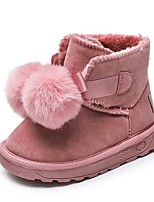 cheap -Girls' Snow Boots Pigskin Boots Little Kids(4-7ys) Pink / Gray Winter / Booties / Ankle Boots