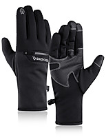 cheap -Winter Bike Gloves / Cycling Gloves Windproof Warm Wearable Stretchy Full Finger Gloves Sports Gloves Fleece Black Grey Dark Navy for Adults Cycling / Bike Activity & Sports Gloves
