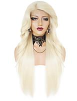 Недорогие -Парики из искусственных волос Синтетические кружевные передние парики Омбре Волнистый Естественный прямой С пушком Лента спереди Парик Длинные Черный и золотой Отбеливатель Blonde