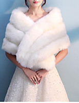cheap -Sleeveless Rabbit Fur Wedding / Party / Evening Women's Wrap With Solid / Fur Capelets